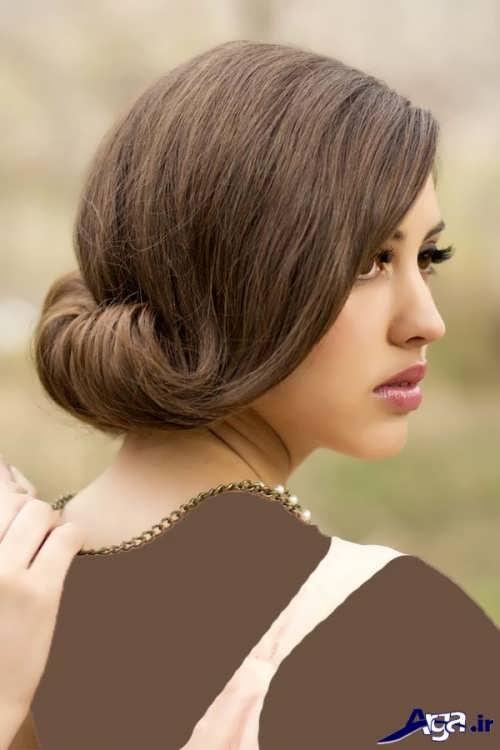 شینیون برای موهای کوتاه زیبا