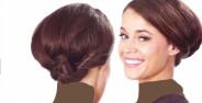 جدیدترین مدل های شینیون برای مو های کوتاه