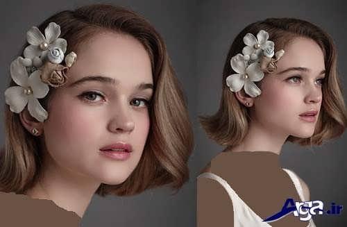 شینیون موی کوتاه دخترانه