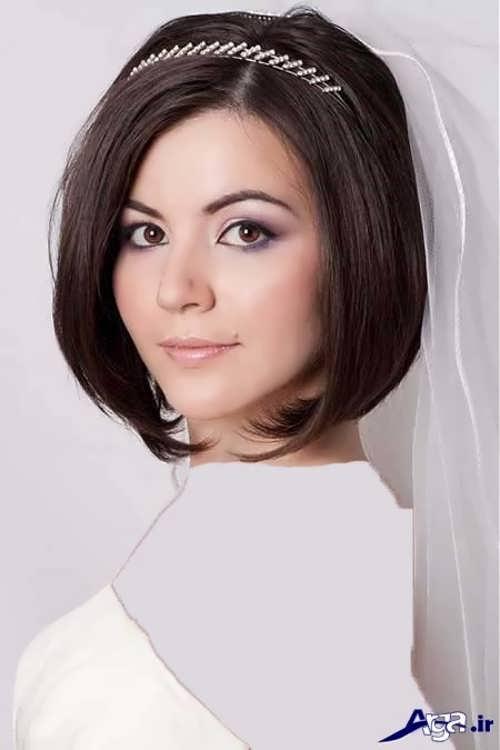 شینیون ساده برای موی عروس