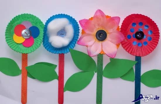 ساخت کاردستی گل کودکانه