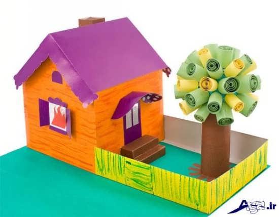 کاردستی خانه با مقوا