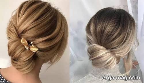 شینیون خاص برای موی کوتاه