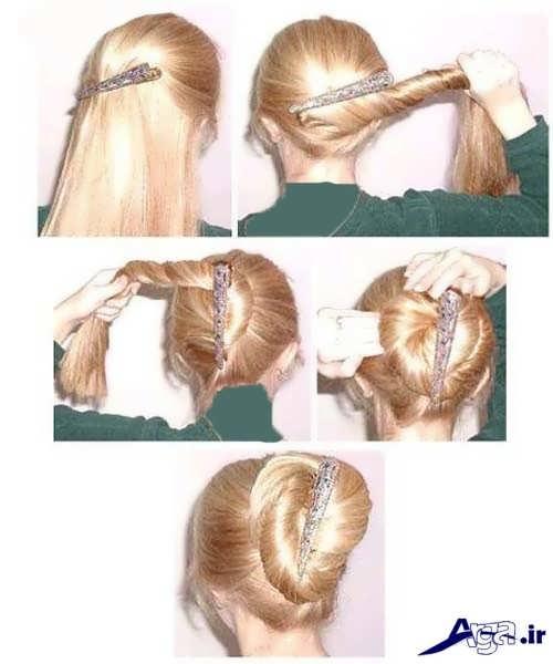 آموزش بستن مو به کمک کلیپس