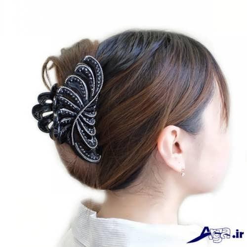 بستن مو با کلیپس زیبا