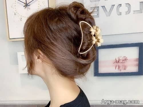 مدل موی ساده با کلیپس