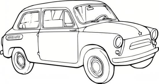 نقاشی ماشین برای کودکان