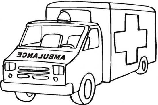 نقاشی آمبولانس برای کودکان