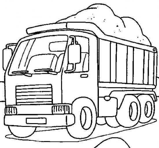 نقاشی کامیون برای کودکان