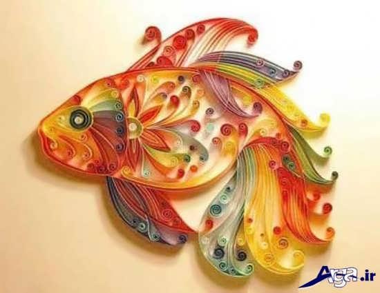 ساخت ماهی با مقوا رنگی