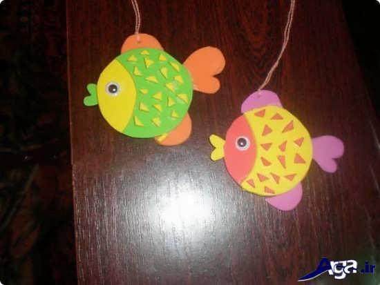 ساخت ماهی با مقوا