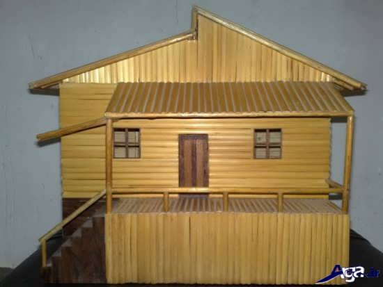 کاردستی خانه با چوب بستنی