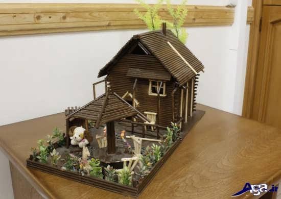 خلاقیت در ساخت خانه با چوب