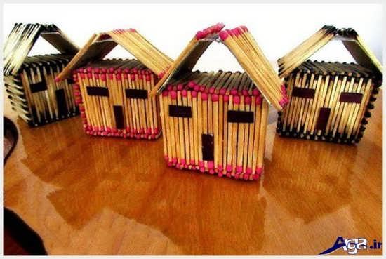 ساخت خانه با چوب کبریت