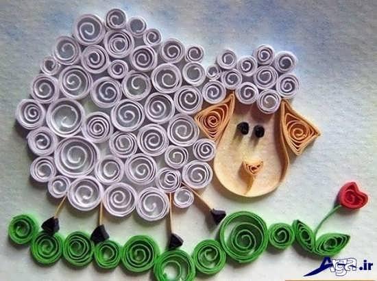 ساخت کاردستی گوسفند با کاغذ