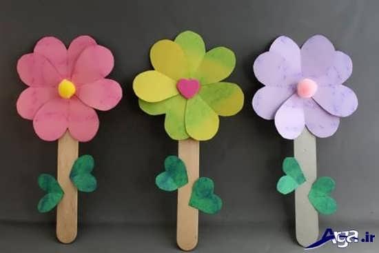 ساخت کاردستی گل با مقوا