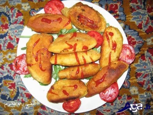 تزیین ساده پیراشکی با کمک گوجه
