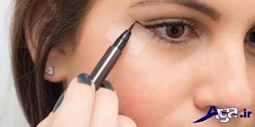 کشیدن خط چشم با انواع خط چشم های مایع