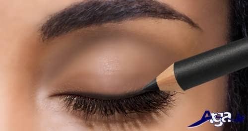 مدل خط چشم مدادی شیک