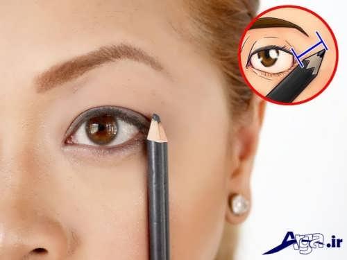 آموزش خط چشم مدادی