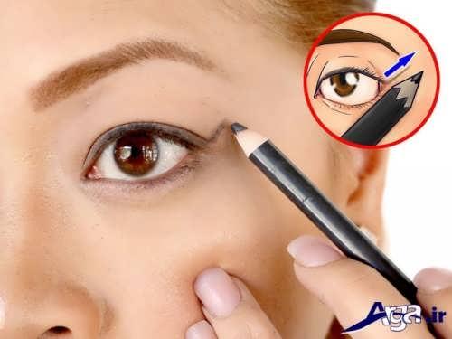 آموزش کشیدن خط چشم مدادی برای افراد مبتدی