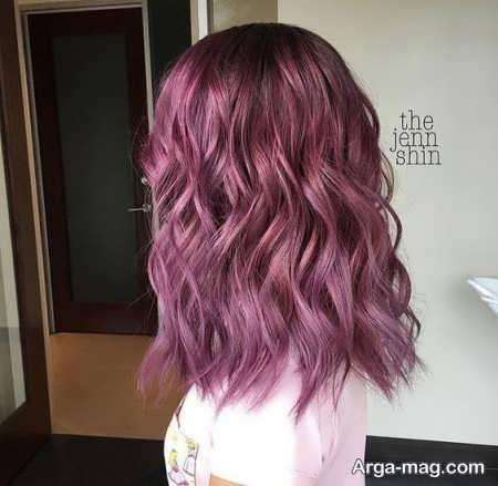 رنگ مو بادمجانی زیبا