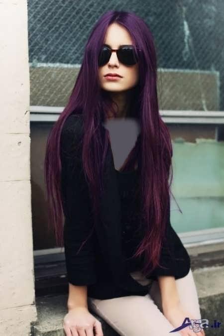 رنگ موی بادمجانی + عکس
