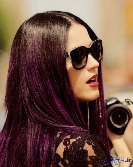 رنگ مو فانتزی بادمجانی