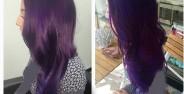 فرمول های ترکیبی رنگ موی بادمجانی + عکس