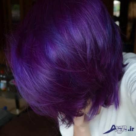 رنگ موی زیبا بادمجانی