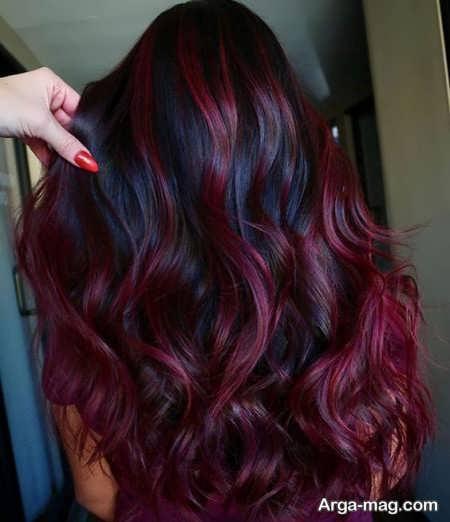 رنگ مو بادمجونی