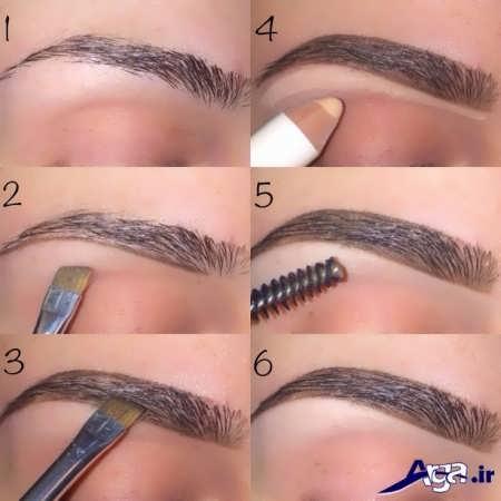 مراحل آرایش ابرو