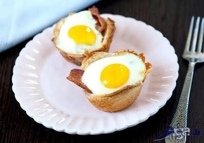 طرز تهیه کاپ تخم مرغی با خمیر یوفکا