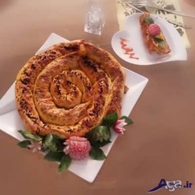 بورک حلزونی با خمیر یوفکا