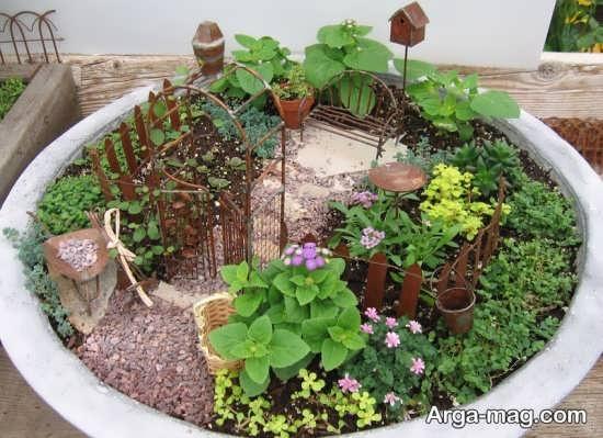 دیزاین زیبای باغچه حیاط کوچک
