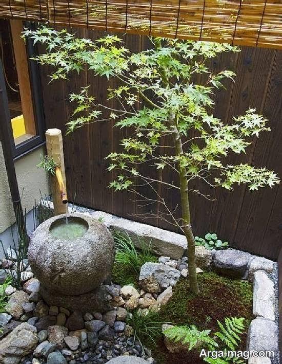 دیزاین جذاب باغچه حیاط کوچک