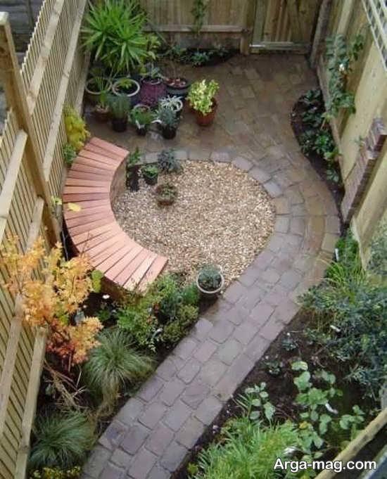 دیزاین فوق العاده باغچه حیاط کوچک
