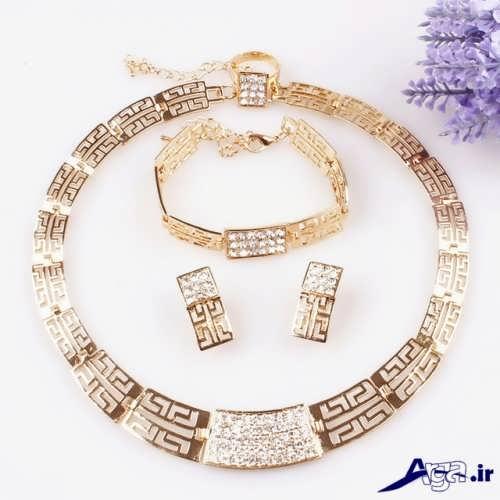 ست زیبا گردنبند و دستبند زنانه