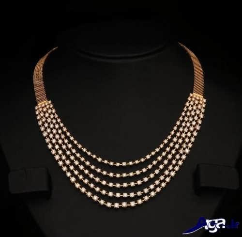 گردنبند طلا با طراحی متفاوت و ایده آل