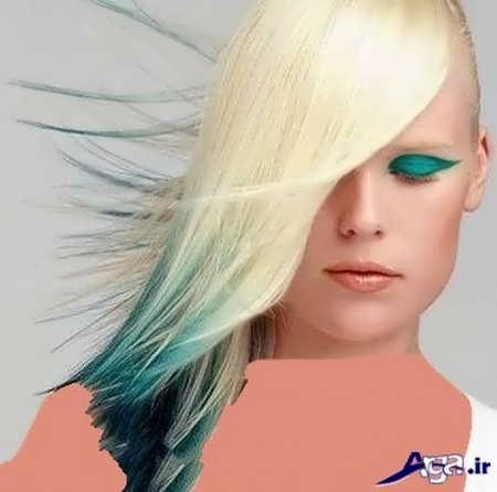 رنگ موی زیبا بژ استخوانی با هایلایت