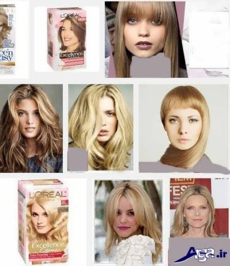 تصاویر رنگ مو ترکیبی بژ