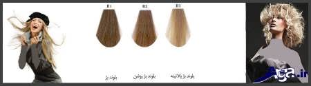 رنگ موی بلوند بژ
