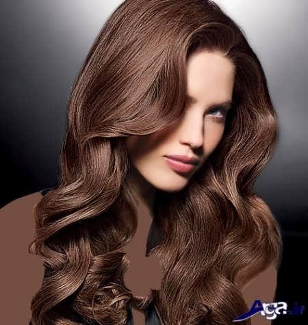 رنگ موی شکلاتی تنباکویی