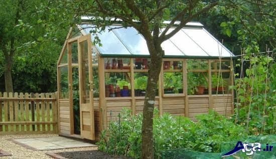 گلخانه خانگی چوبی