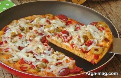 آموزش تهیه پیتزا مخصوص بدون فر