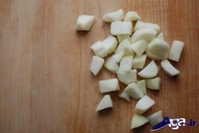 خرد کردن سیب