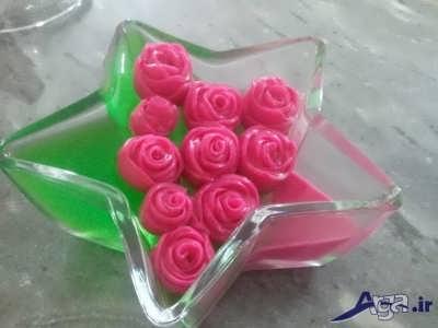 ژله رولتی به شکل گل رز