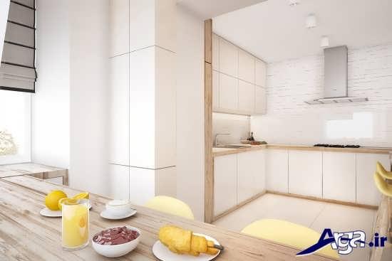 کابینت آشپزخانه با رنگ سفید
