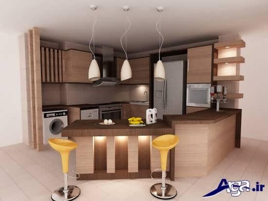 کابینت اشپزخانه با طراحی مدرن و بی نظیر