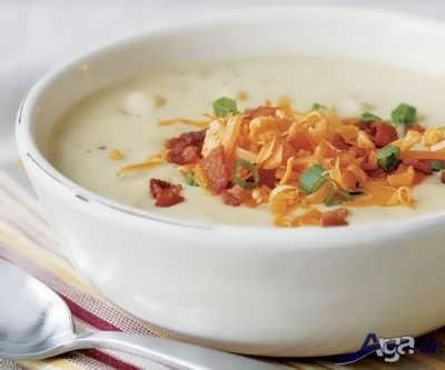 تزیین سوپ تره فرنگی